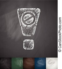 attention. is banned icon. Hand drawn vector illustration....