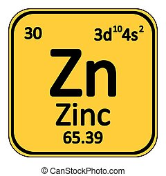 Periodic table element zinc icon. - Periodic table element...