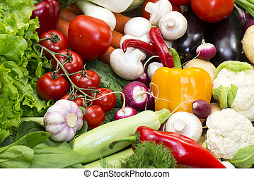 Background of fresh vegetables