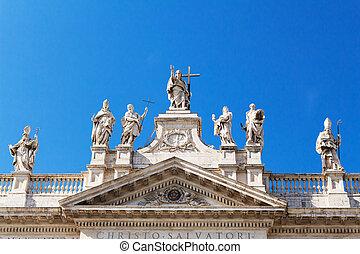 San Giovanni al laterano, Christo Salvatori, basilica front...