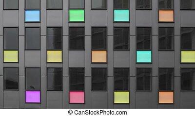 Led Lights Building - Modern Building With LED Light Panels