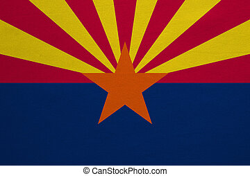 Flag of Arizona real detailed fabric texture - Flag of the...