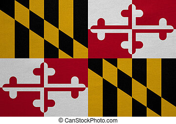 Flag of Maryland real detailed fabric texture - Flag of the...