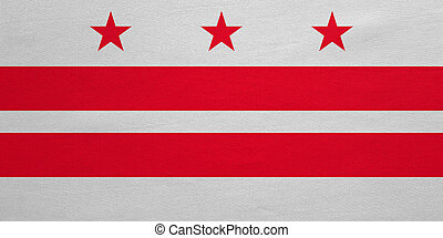 Flag of Washington, D.C. detailed fabric texture - Flag of...