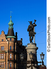 Statue of Hemidall in Stockholm, Sweden - Statue of Hemidall...