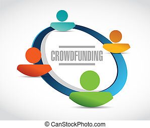 crowdfunding people network sign concept illustration design...