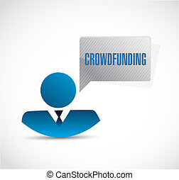 crowdfunding avatar sign concept illustration design graphic