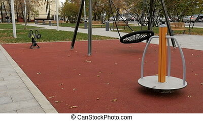 Blank, children's playground, slow motion - Blank,...