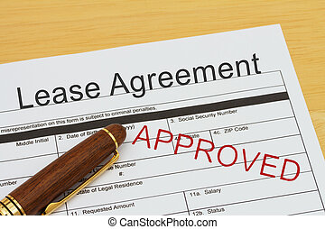 Applying for a Lease Agreement Approved, Lease Agreement...
