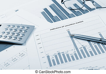 charts and graphs of sales of securities - workplace...