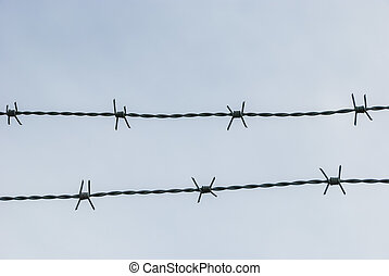Barbed wire occlusion background