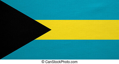Flag of Bahamas real detailed fabric texture