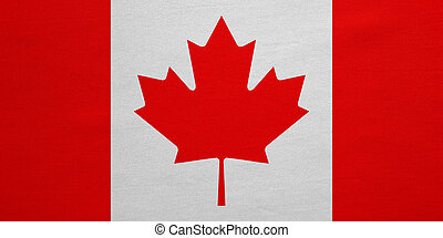 Flag of Canada real detailed fabric texture
