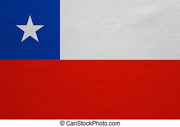 Flag of Chile real detailed fabric texture