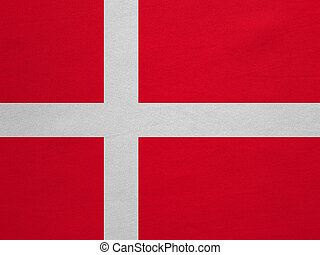Flag of Denmark real detailed fabric texture