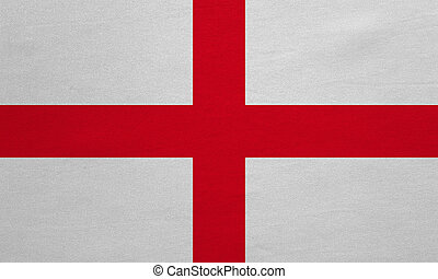 Flag of England real detailed fabric texture