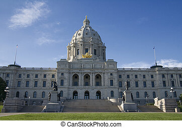 Beyond the Capitoll Steps - Photo of Minnesota State Capitol...