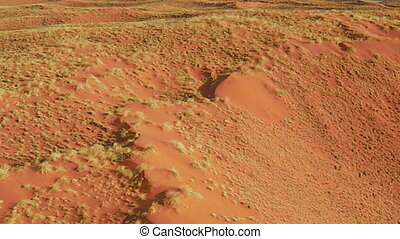 Namibia dunes flight on Sossusvlei desert in the Namib...