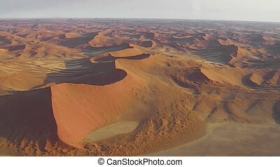 Sossusvlei dunes flight - Aerial view of the Sossusvlei...