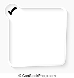 White box for your text and check box symbol