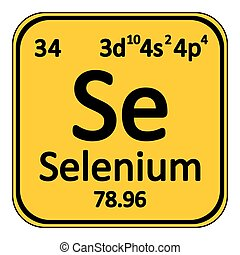Periodic table element selenium icon. - Periodic table...