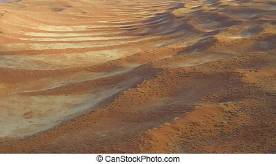 scenic flight on desert Sossusvlei in the Namib Naukluft...