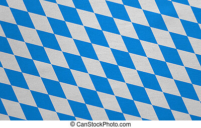 Flag of Bavaria real detailed fabric texture - Bavarian...
