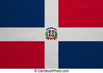 Dominican Republic flag detailed fabric texture - Dominican...