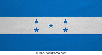 Flag of Honduras real detailed fabric texture - Honduran...