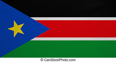 Flag of South Sudan real detailed fabric texture - South...