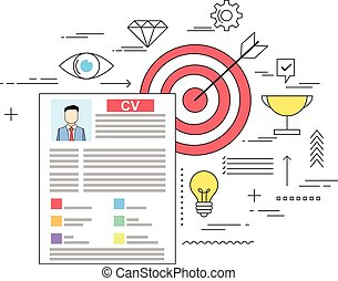 Target oriented successful CV writing concept