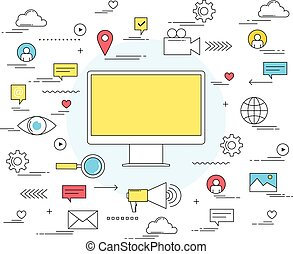 Business online promotion and marketing concept