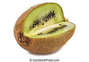 Juicy kiwi fruit, isolated on white background