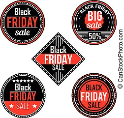 Black Friday sale stickers and labels
