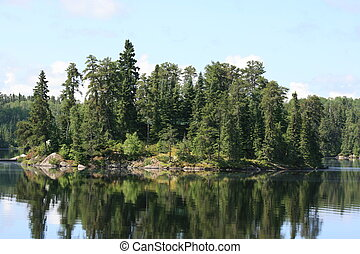 Island in Northern Ontario, Canada