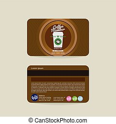 Coffee Shop Member Card Template - Front And Back Coffee...