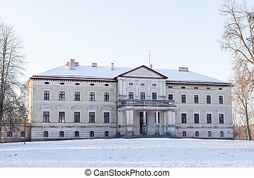 Old palace - manor Plinkses in Lithuania.