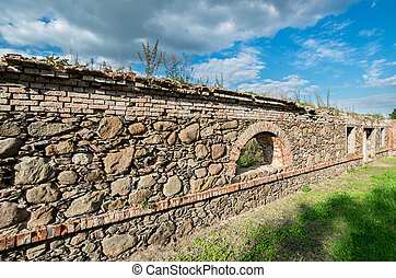 Ruins of old warehouse in Lithuania vilage