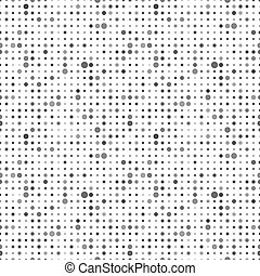 Gray dots on white, abstract seamless pattern