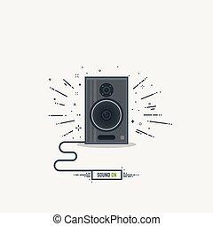 Musical loud speaker