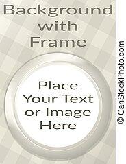 Frame Porthole on White Background