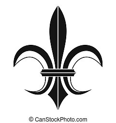Lily heraldic emblem icon, simple style - Lily heraldic...