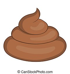 Piece of turd icon, cartoon style - Piece of turd icon in...