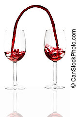 Transfusion - Conceptual image showing red wine flowing...