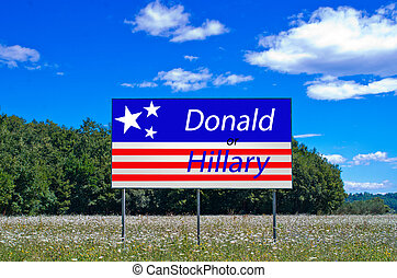 the moment of choice, hillary or donald - the important...