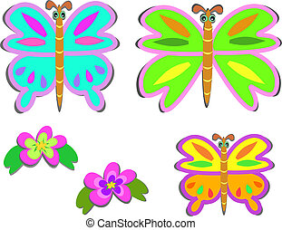 Mix of Chunky Butterflies and Flowe - Here are some cute big...