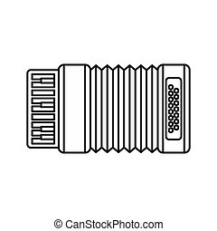 Accordion icon, outline style - Accordion icon in outline...