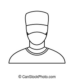 Surgeon icon, outline style - Surgeon icon in outline style...