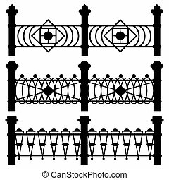 black fences collection of symbols