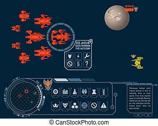 Space strategy game asset - Vector elements for strategy...